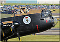 NS3626 : A wave from the cockpit of the Canadian Lancaster Vera by Walter Baxter