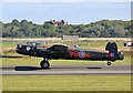 NS3626 : The Canadian Lancaster Vera taking off from Glasgow Prestwick Airport by Walter Baxter