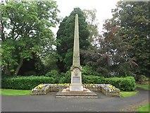 NT7853 : War Memorial, Duns Public Park by Graham Robson