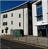 ST3187 : Lower Dock Street electricity substation, Newport by Jaggery