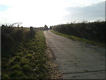 SW9775 : Early morning on the farm track to Tredower by Rob Purvis