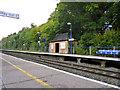 TQ0287 : Denham Golf Club station up platform by Robin Webster