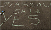 NS5965 : Political Graffiti in George Square by Thomas Nugent
