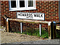 TM3863 : Howards Walk sign by Geographer