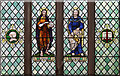 TQ4077 : St John the Evangelist, Stratheden Road, Blackheath - Stained glass window by John Salmon