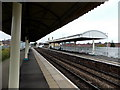 SJ3033 : Station platform canopies, Gobowen by Jaggery