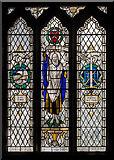 TQ5802 : Stained glass window, St Mary's church, Willingdon by Julian P Guffogg