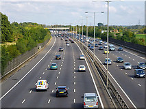 TQ0481 : M25 near Iver by Robin Webster