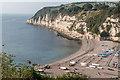 SY2389 : Beach, Beer, Devon by Christine Matthews