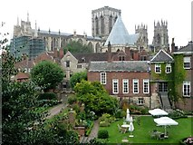 SE6052 : York Minster from the city walls by Christine Johnstone