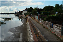 SU8003 : Shore Road, Bosham Harbour by Peter Trimming