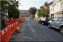 SH7882 : Roadworks on Caroline Street, Llandudno by Ian S