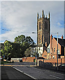 SK3536 : Sowter Road and Derby Cathedral tower by John Sutton