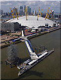TQ3980 : O2 Arena and QE2 Pier by Ian Taylor