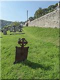 SY1988 : Iron Grave Marker, St Winifred's Church, Branscombe, Devon by Christine Matthews