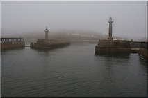 NZ8911 : The entrance to Whitby Harbour by Bill Boaden