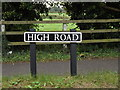 TM2885 : High Road sign by Adrian Cable