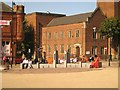 SO9490 : Paving and seating, Stone Street Square, Dudley by Robin Stott
