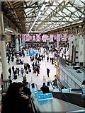 TQ2879 : Union Jack Flags at Victoria Station by PAUL FARMER
