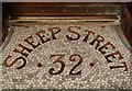 SD9851 : Shop entrance floor mosaic, Skipton by Julian Osley