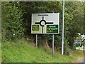 TM2584 : Roadsign on High Road by Adrian Cable