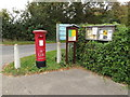 TM2687 : Village Hall George V Postbox & Notice Boards by Adrian Cable