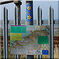 SH7377 : Route map on the Wales  Coast Path by Ian S