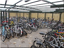 SP5206 : Bike shed of St Catherine's College, Oxford by David Hawgood