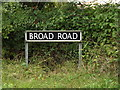TM2588 : Broad Road sign by Adrian Cable