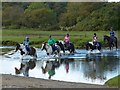 SS8876 : Horse riders fording the Ewenny River by Robin Drayton