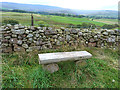 NY6235 : Commemorative bench by Oliver Dixon