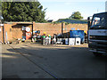 SO9389 : Scrap metal dealer's yard, Wellington Road, Sunday afternoon by Robin Stott