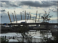 TQ3981 : Bow Creek with O2 Arena as seen from Canning Town, London by Christine Matthews