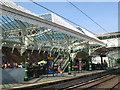 NZ3669 : Tynemouth Metro station - Platform 1 (northbound) by Mike Quinn