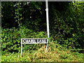 TM2290 : Chapel Lane sign by Adrian Cable