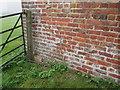 SE8856 : O/S  Bench  Mark  on  outbuilding  at  Northfield  Farm by Martin Dawes