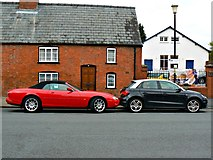 SO5139 : Cars outside 6 Castle Street, Hereford by Brian Robert Marshall