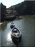 NZ7818 : Boats on Staithes Beck by JThomas