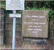 NT9953 : Plaque on Royal Border Bridge by David Chatterton