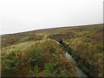 SE0130 : Footbridge over the catchwater below High Brown Knoll by John Slater