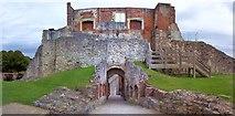 SU8347 : Farnham Castle, Gatehouse and Gallery by Len Williams