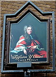 ST1586 : Tafarn Y Cwrt name sign, Caerphilly by Jaggery