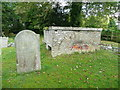 TL2334 : Structure in the churchyard of St Nicholas's Church, Norton by Humphrey Bolton