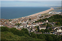 SY6873 : Fortuneswell and Chesil Beach by Anne Burgess