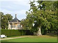 ST5017 : Part of the garden and the south porter's lodge at Montacute House by David Smith