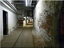 NY4055 : Tunnel under the tracks, Carlisle Citadel Station, 2009 by Rose and Trev Clough