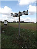 TM0760 : Roadsign on Rendall Lane by Adrian Cable