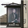 SJ8989 : Sir Robert Peel: Pub sign by Gerald England