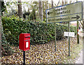 TL7554 : Roadsign & Wickham Street Postbox by Adrian Cable