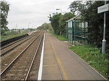 TM4598 : Haddiscoe (low level) railway station, Norfolk by Nigel Thompson